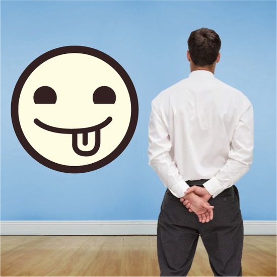 Emoticon Relaxed Face Wall Decal - Vinyl Decal - Car Decal - Idcolor082