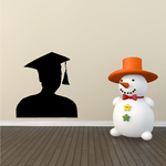 Graduate Bust Decal