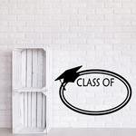 Circle Frame Class of Your Year Graduation Decal