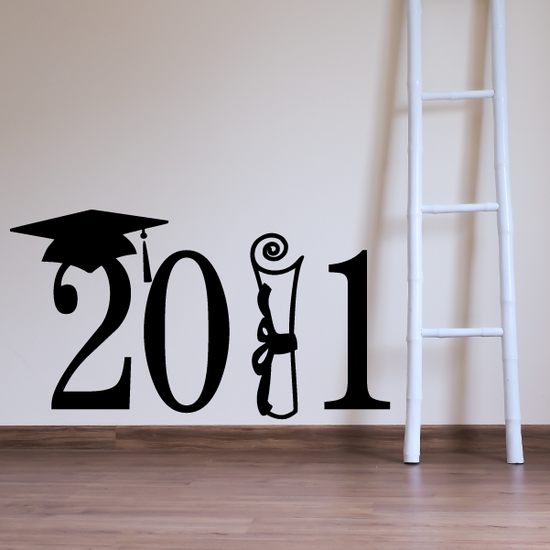 Class of Any Year Scroll Diploma Decal