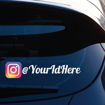 Custom Instagram Printed Die Cut Decal