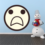 Emoticon Horrified Face Wall Decal - Vinyl Decal - Car Decal - Idcolor090