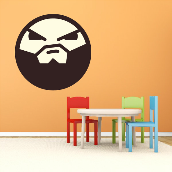 Emoticon Intimidating Face Wall Decal - Vinyl Decal - Car Decal - Idcolor093