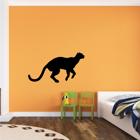 Mountain Lion Ready to Jump Decal