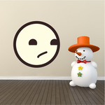 Emoticon Stoic Face Wall Decal - Vinyl Decal - Car Decal - Idcolor094