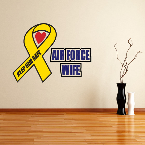 Air Force Wife Ribbon Printed Die Cut Decal