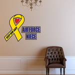 Air Force Niece Ribbon Printed Die Cut Decal