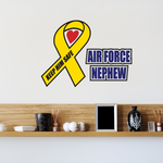 Air Force Nephew Ribbon Printed Die Cut Decal