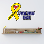Cost Guard Uncle Ribbon Printed Die Cut Decal