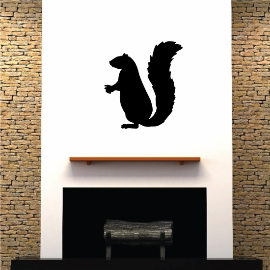 Classic Standing Squirrel Decal