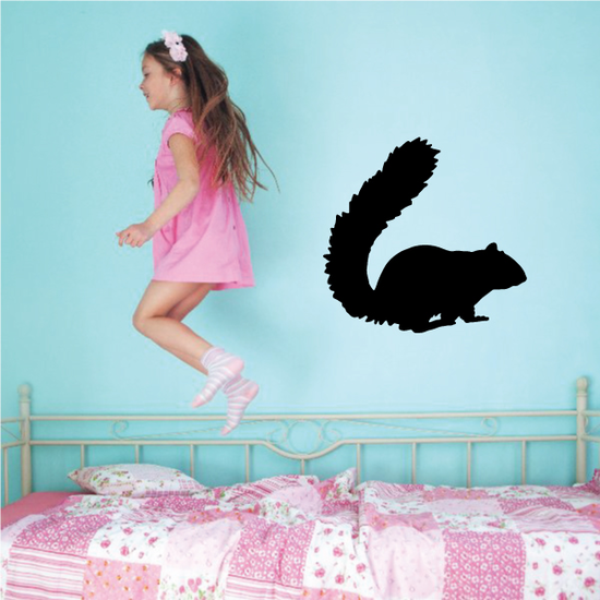 Fluffy Tail Squirrel Decal