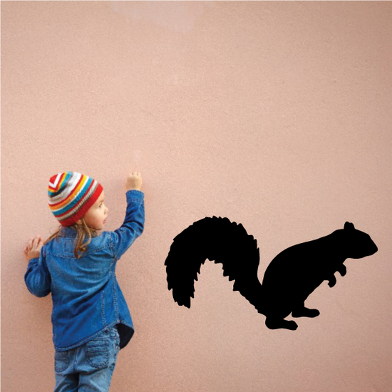 Squirrel Leaning Decal