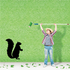 Upright Standing Squirrel Decal