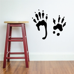 Squirrel Paw Prints Decal