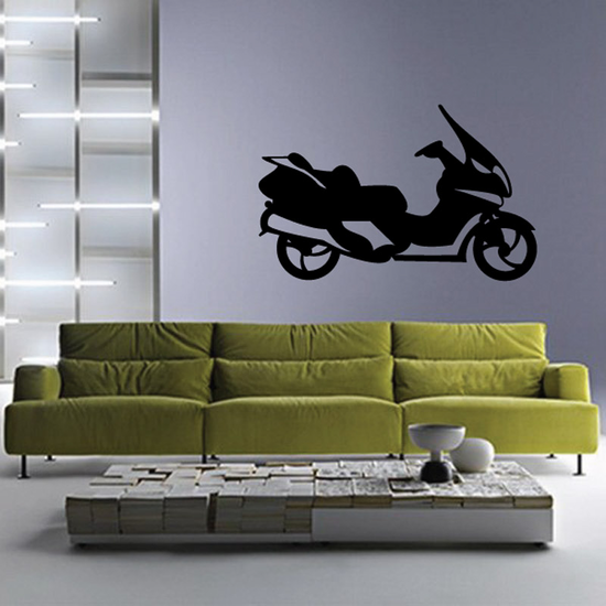 Big Side View Scooter Decal