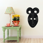 African Art Curved Horn Mask Decal