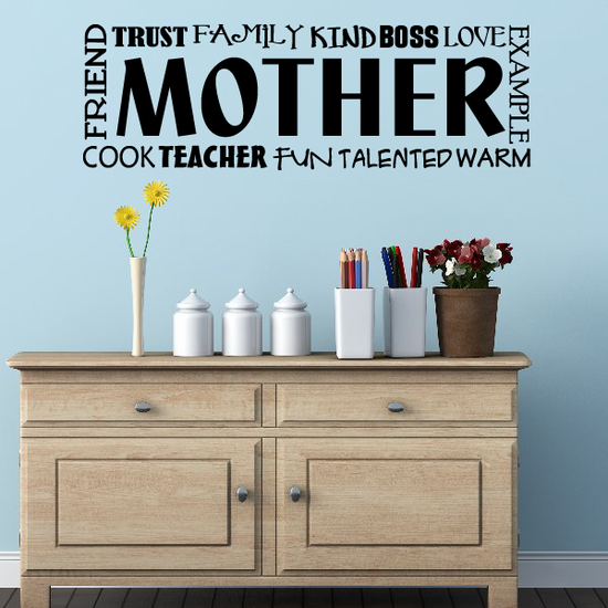 Mother Word Collage Decal