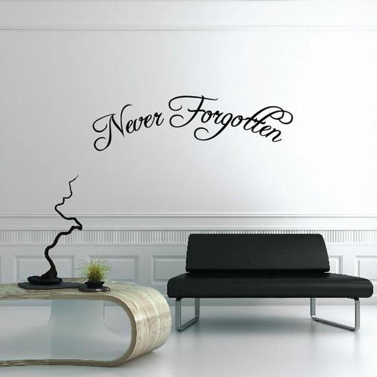 Never Forgotten In Loving Memory Wall Decal - Vinyl Decal - Car Decal - DC018