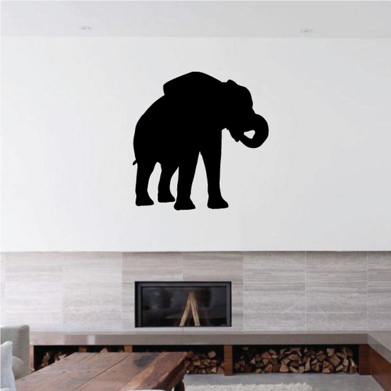 Curled Trunk Elephant Decal