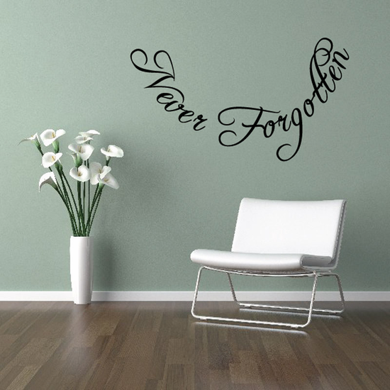 Never Forgotten In Loving Memory Wall Decal - Vinyl Decal - Car Decal - DC051