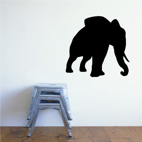 Leaning Elephant Decal