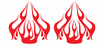 Paired Flame Decals