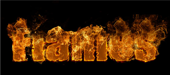 Text Flames