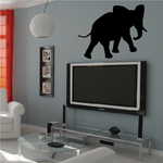 Looking Over Walking Elephant Decal