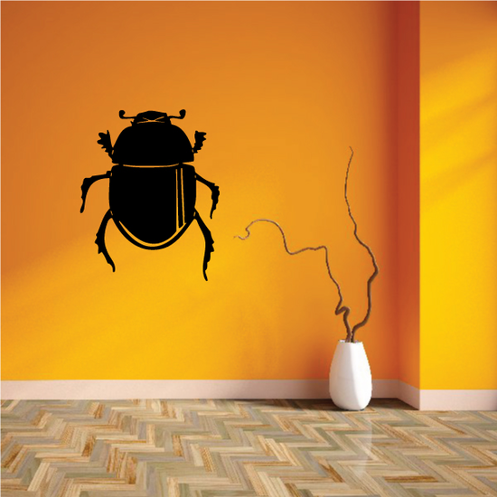 Round Scarab Beetle Decal