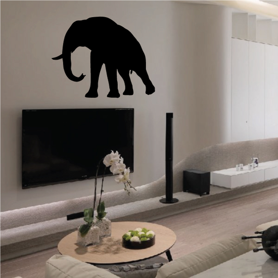Peacful Strolling Elephant Decal