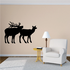 Elk Family Bull and Cow Decal