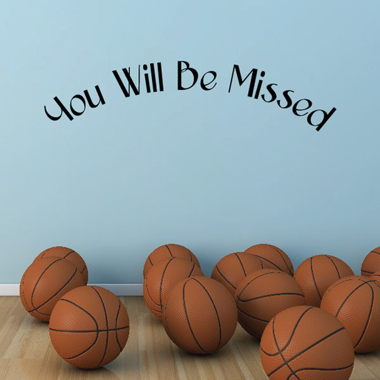 You Will be Missed In Loving Memory Wall Decal - Vinyl Decal - Car Decal - DC019
