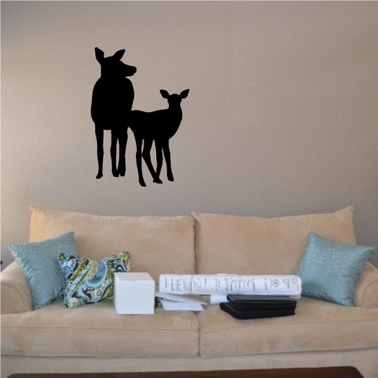 Elk Family Cow and Fawn Decal