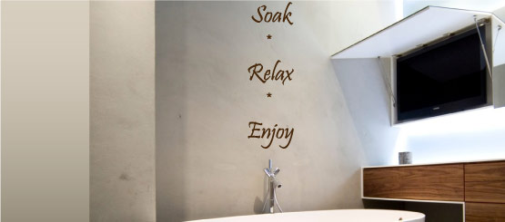 Bathroom Quote Decals