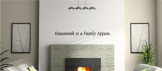 Housework Quote Decals