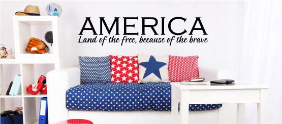 Patriotic Quote Decals