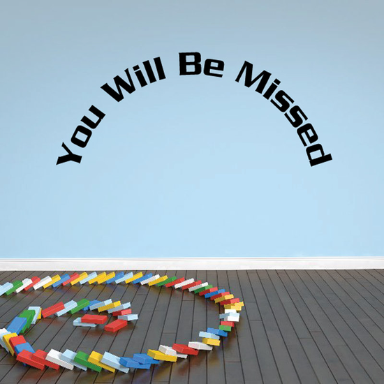 You Will be Missed In Loving Memory Wall Decal - Vinyl Decal - Car Decal - DC027