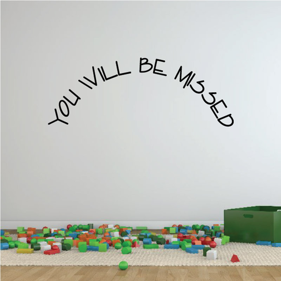 You Will be Missed In Loving Memory Wall Decal - Vinyl Decal - Car Decal - DC031