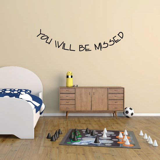 You Will be Missed In Loving Memory Wall Decal - Vinyl Decal - Car Decal - DC042