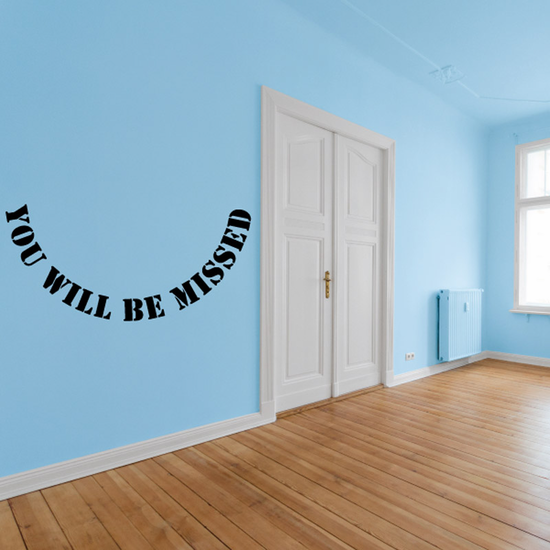 You Will be Missed In Loving Memory Wall Decal - Vinyl Decal - Car Decal - DC047