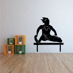 Female Hurdle Jumper Decal