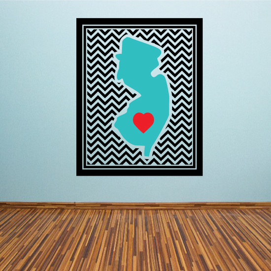 New Jersey Chevron Sticker