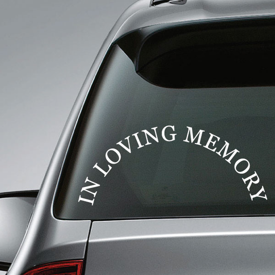 In Loving Memory Text Wall Decal - Vinyl Decal - Car Decal - Mv002