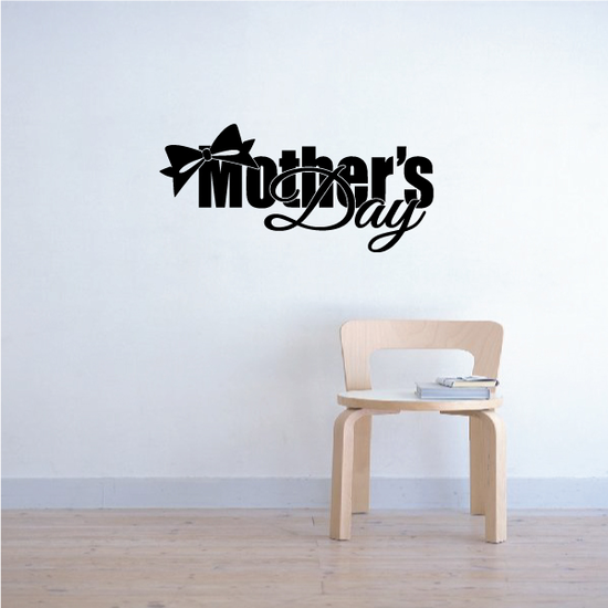 Mothers Day Bow Decal