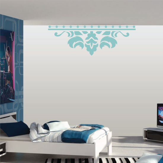 Damask Wall Decal - Vinyl Decal - Car Decal - Vd003
