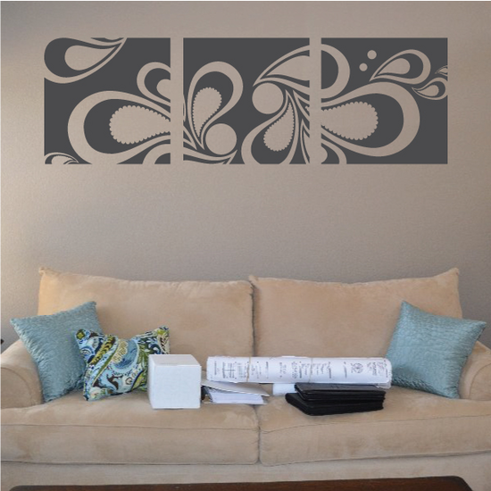 Paisley Wall Decal - Vinyl Decal - Car Decal - Vd002