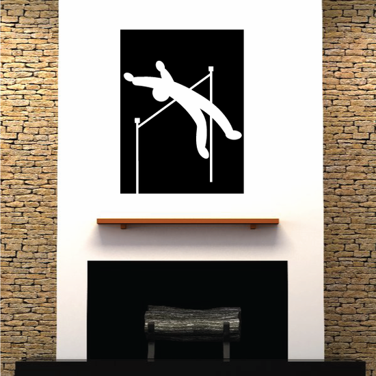 Track and field Wall Decal - Vinyl Decal - Car Decal - Bl062