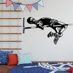 Track and field Wall Decal - Vinyl Decal - Car Decal - Bl003