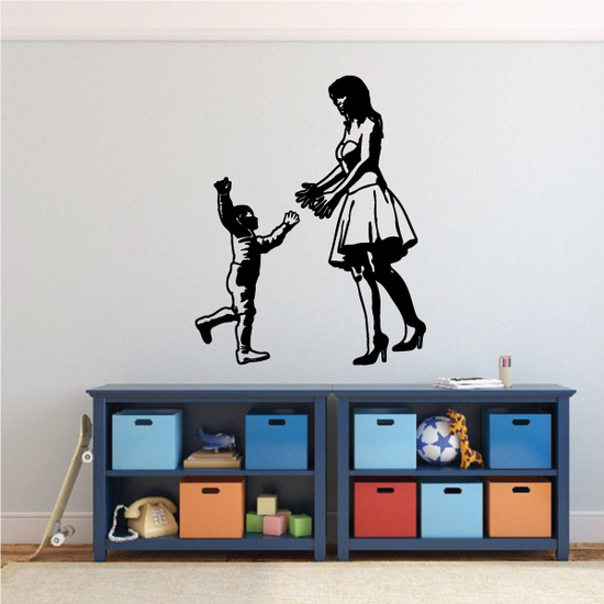 Mom Welcomes Child Decal
