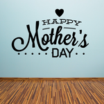 Heart and Dots Happy Mother's Day Decal